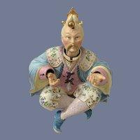 Antique Doll Oriental Nodder & Juggler Porcelain HUGE Wonderful