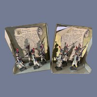 Antique French Miniature Soldiers in Original Box Grenadier and Fusiliers TWO Sets War of 1812