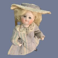 Antique Doll Rare Wonderful Kestner Mignonette Closed Mouth High Strapped Boots All Bisque