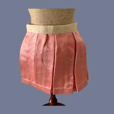 Sweet Doll Skirt Pleated Pink Silk Drop Waist French Market