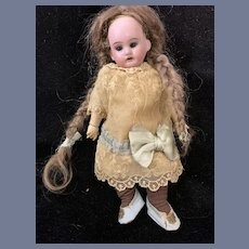 Antique Doll Bisque Head Composition 11 Piece Fully Jointed Body Antique Fab Dress
