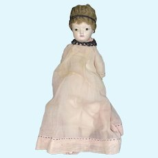 Antique Doll Papier Mache Glass Eyes Dressed Wonderful