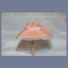 Sweet Miniature Straw Doll Bonnet Pink Cute