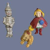 Vintage Wizard of Oz Figures Dolls Miniature Dollhouse