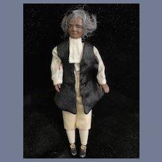 Vintage Miniature Black Doll Dollhouse Man Nicely Dressed