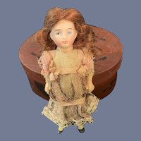 Antique Doll Miniature Dollhouse in Factory Original Clothing Sweet