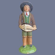 Dollhouse Miniature Painted Musician Boy Made in France