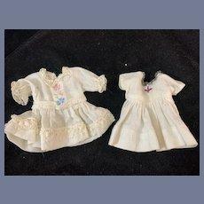 Vintage TWO Petite Doll Dress Set Adorable