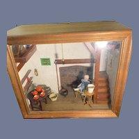 Wonderful Vintage Doll Miniature Diorama Dollhouse Roombox