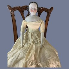 Antique Doll China Head Large  Beautiful Face Large