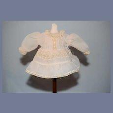 Vintage Sweet Doll Dress French Market Lace Drop Waist Silk Petite