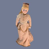 Antique Kestner Bisque 238 Doll Glass Eyes and Fancy Molded Hair Style