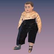 Antique Doll Cloth Alabama Baby Doll BOY Adorable