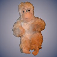Antique Miniature Schuco Mohair Jointed Monkey For Doll Toy