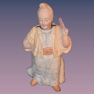 Antique Doll Nodder Oriental Bisque Figurine Miniature