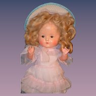 Antique Doll Bisque Unusual Just Me Dressed So cute!
