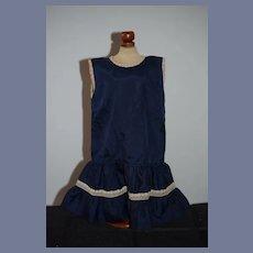 Navy Sleeveless Doll Dress