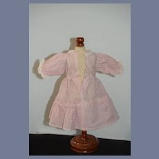 Pink Doll Dress with White Dots