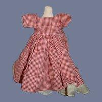 Little Red Plaid Doll Dress