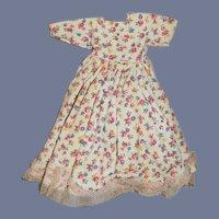 Flower Pattern White Doll Dress