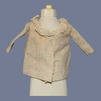 Tan Doll Jacket with Lace Collar