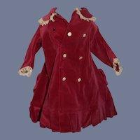 Red Velvet Doll Overcoat