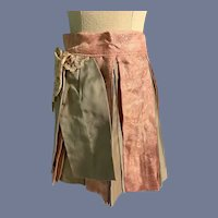 Vintage Doll Skirt with Pleats and Lace Detail
