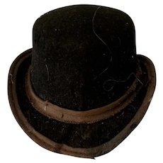 Velvet Black Doll Hat