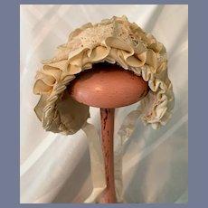 Cream Doll Bonnet