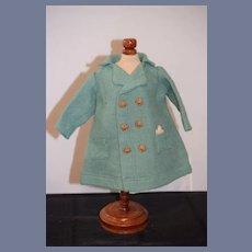 Teal Wool Doll Jacket