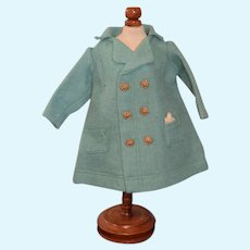 Teal Wool Doll Jacket