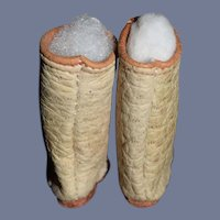 Old Pair of White Doll Boots