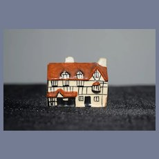 Miniature Porcelain Cottage Doll Size Dollhouse