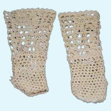 White Knit Doll Socks