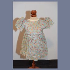 Blue Floral Fabric Doll Dress