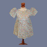 Blue Floral Fabric Doll Dress