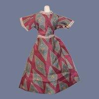 Red Print Doll Dress