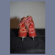 Red Doll Ice Skate Set Boots