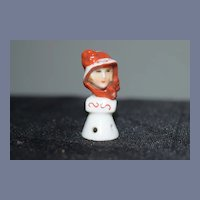 Miniature Porcelain Doll Bust Half Doll China Head