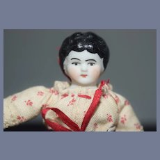 Miniature China Head with Floral Dress