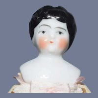Small Antique China Head Doll Dollhouse Lady