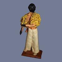Small Cuban Musician Doll Figure
