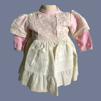 Pink and White Doll Dress Set