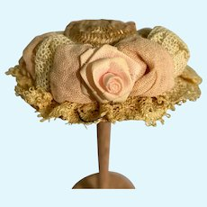 Small Vintage Straw Doll Hat
