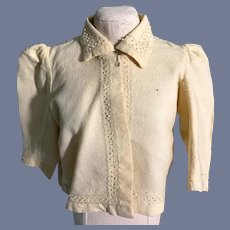 Yellow Felt Cloth Doll Jacket