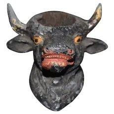 Metal Painted Bull Head Pin Cushion