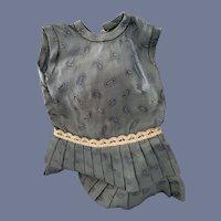 Paisley Blue Sleeveless Doll Dress