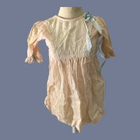 Light Pink Doll Gown with Eyelet and Lace Accent