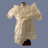 White Embroidered Doll Dress