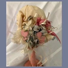 Light Yellow Doll Bonnet with Fancy Details